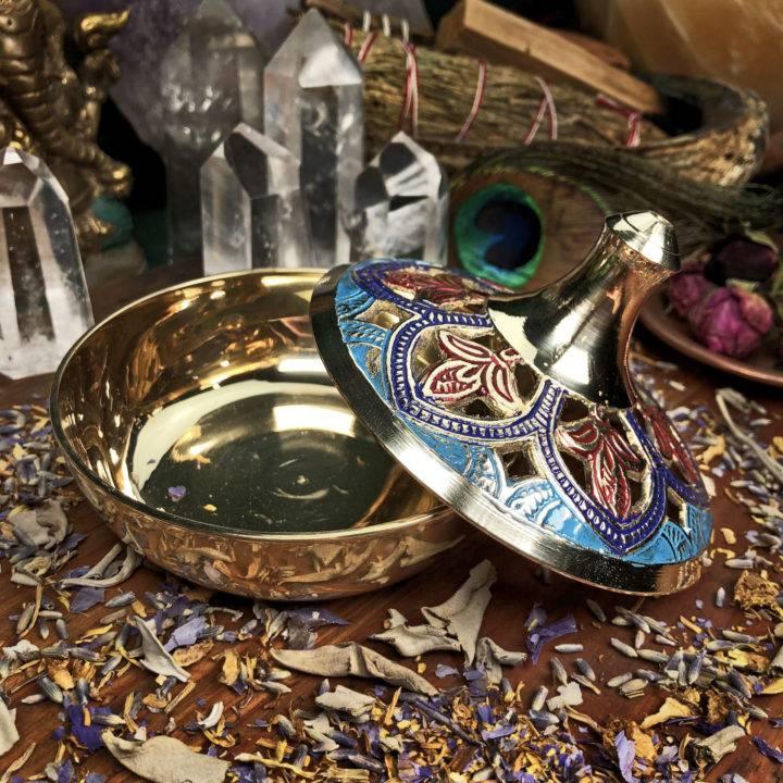 Brass Bowl Incense Burner