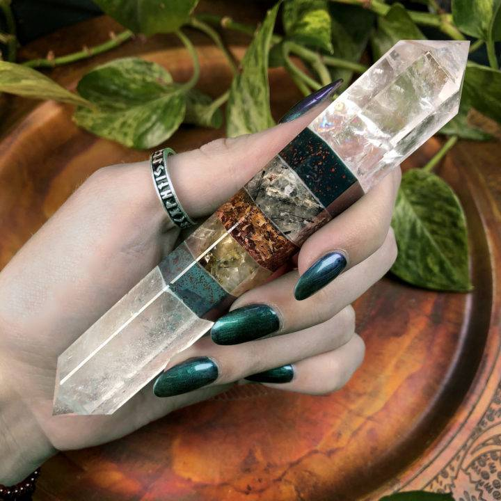 Double Terminated Healing Goddess Wand