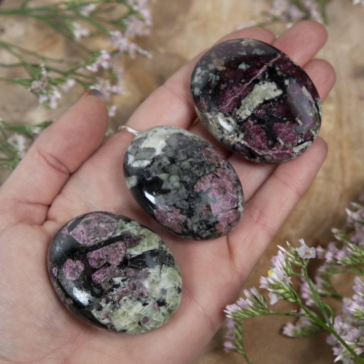 Eudialyte Trauma Release Palm Stone