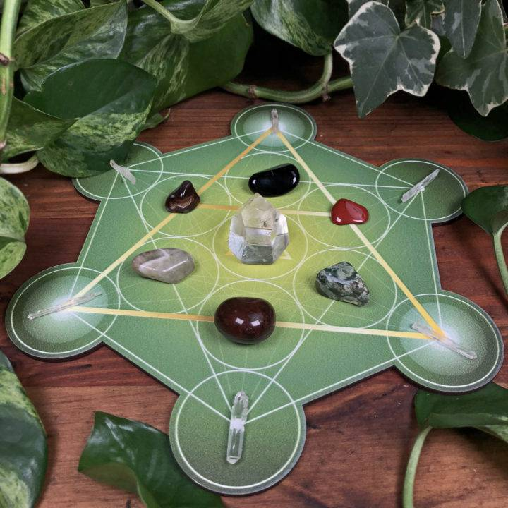Earth Element Crystal Grid