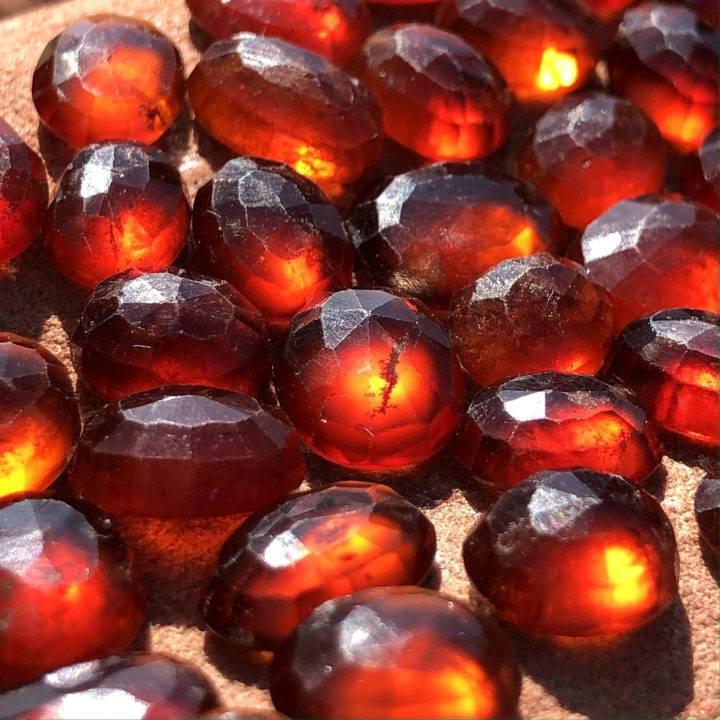 Faceted Hessonite Garnet