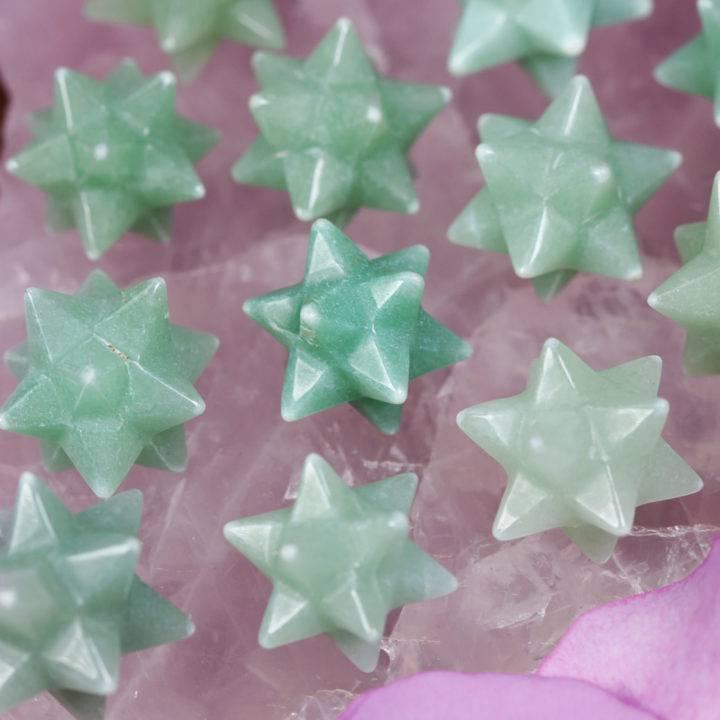 Green Aventurine 12-Pointed Abundance Star