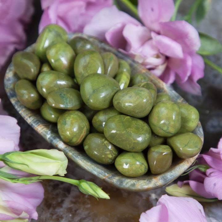 Tumbled Green Opal