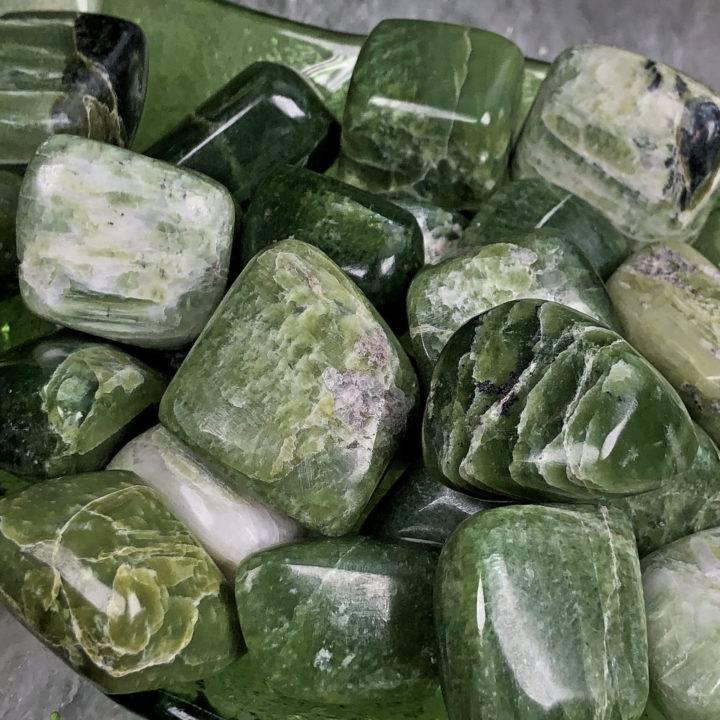 Tumbled Green Tremolite