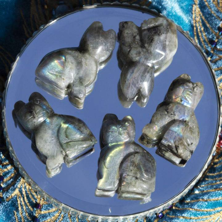 Labradorite Pocket Cat