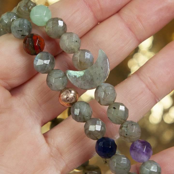 Labradorite Moon Intention Bracelet
