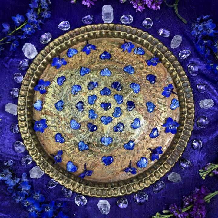Lapis Lazuli Queens Pocket Heart