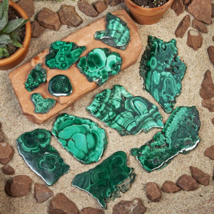 Malachite Stalactite Slab