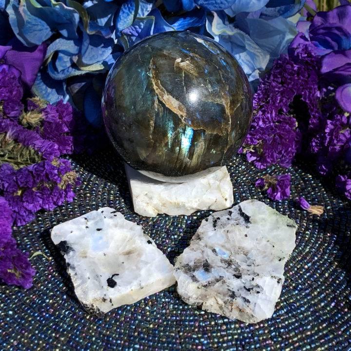 Moonstone Sphere Stand