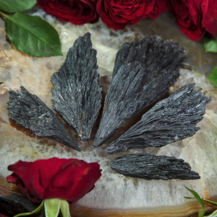 Natural Black Kyanite Spear