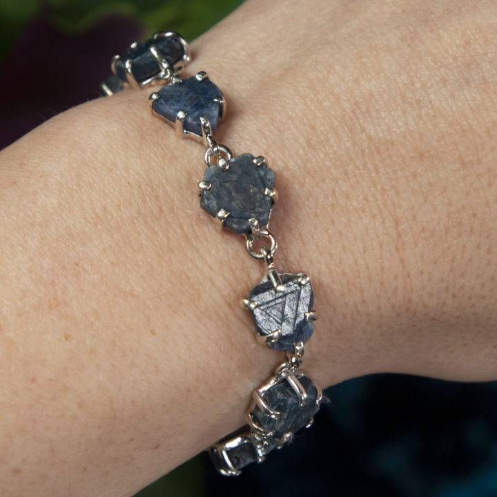 Natural Record Keeper Sapphire Sterling Silver Bracelet