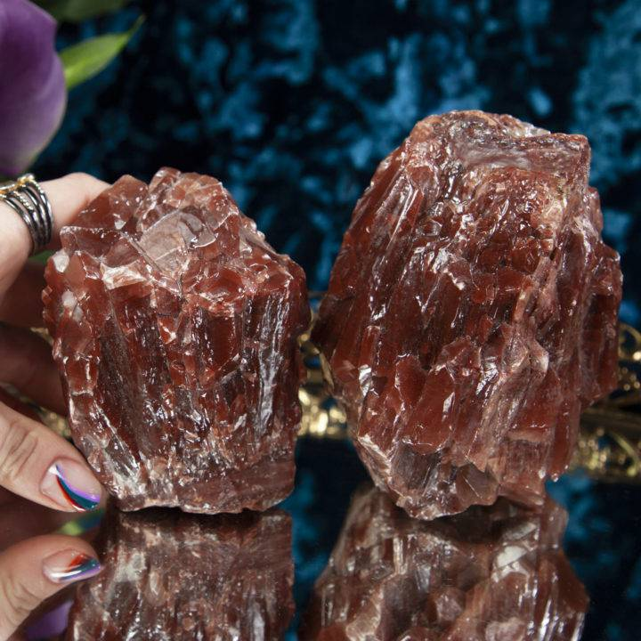 Natural Red Calcite