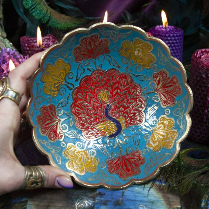 Peacock Offering Plate