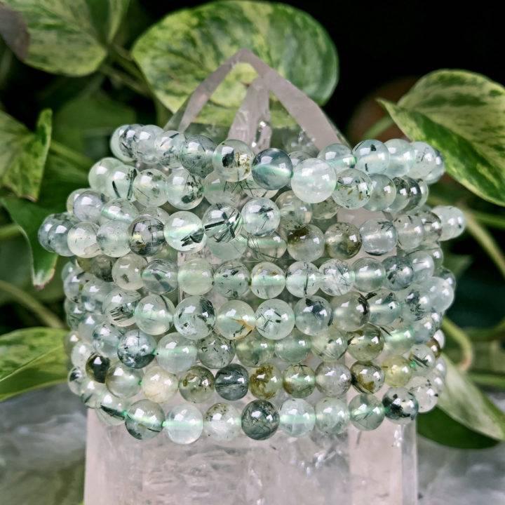 Prehnite with Epidote Heal the Healer Bracelet