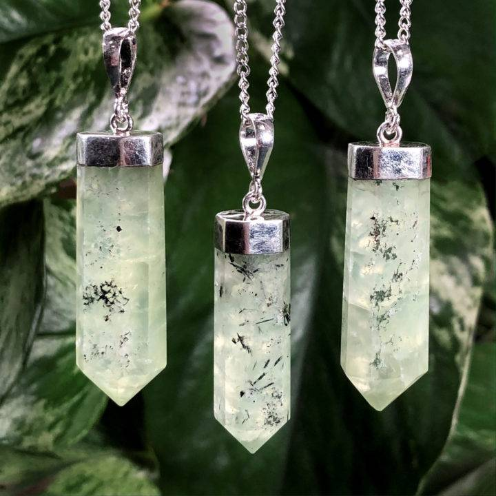 Prehnite with Epidote Master Healer Pendant