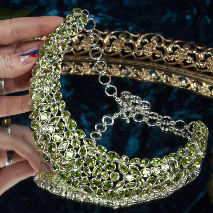 Prosperous Peridot Sterling Silver Necklace