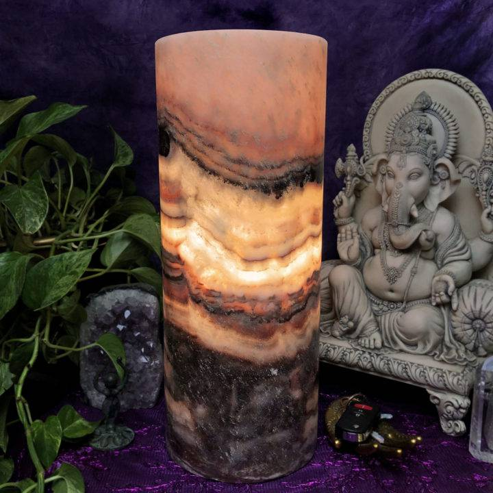 Rose Onyx Heart Protection Lamp