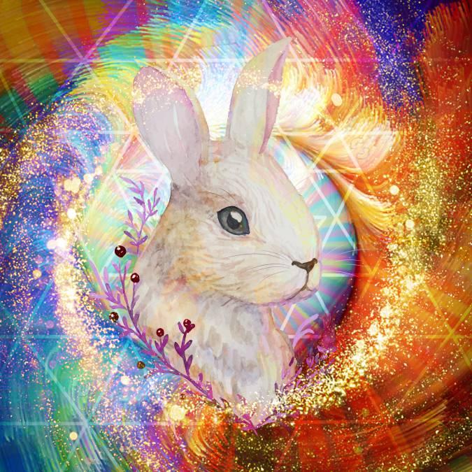 Ostara White Rabbit Set