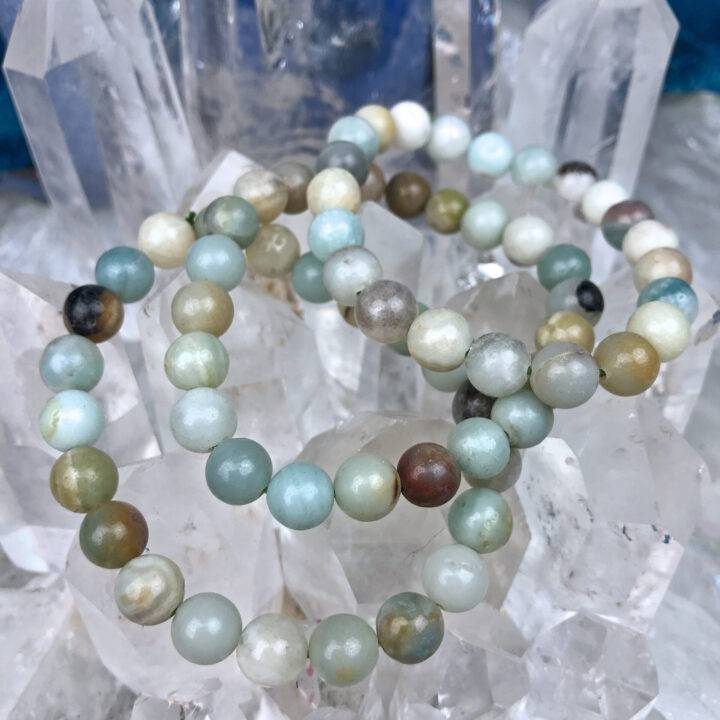 Amazonite Clear Communication Bracelet