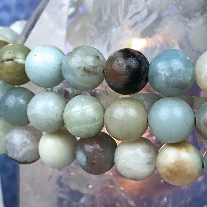Amazonite Clear Communication Bracelet