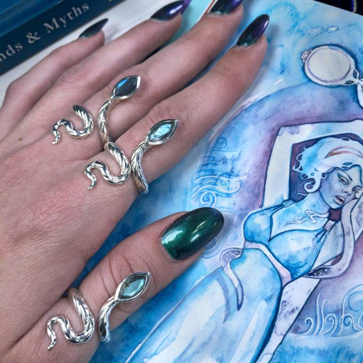 Athena's Visioning Snake Ring