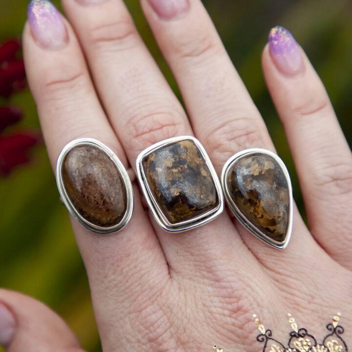 Bronzite Releasing Ring