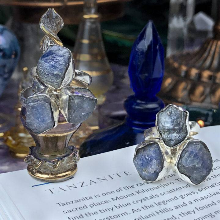 Blue Tanzanite Ascension and Alchemy Ring
