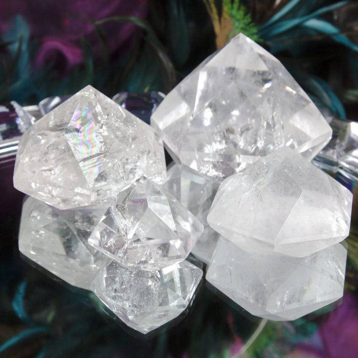 Clear Quartz Faceted Hexagonal Pyramid