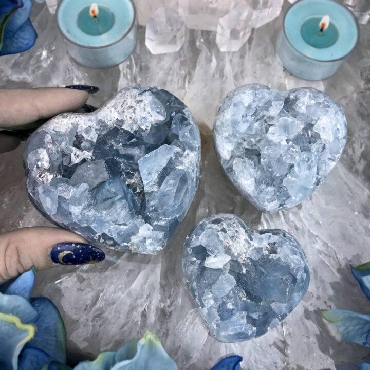 Celestite Angelic Communication Heart