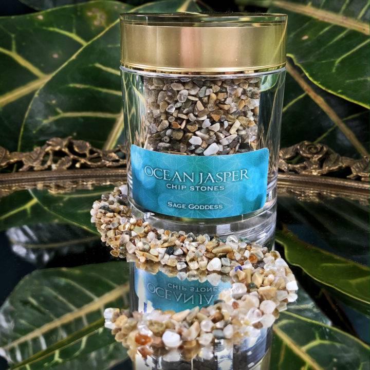 Crystal Sprinkles Tumbled Ocean Jasper Chip Stones