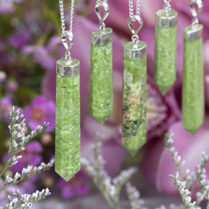 Grossularite Green Garnet Prosperity Pendant
