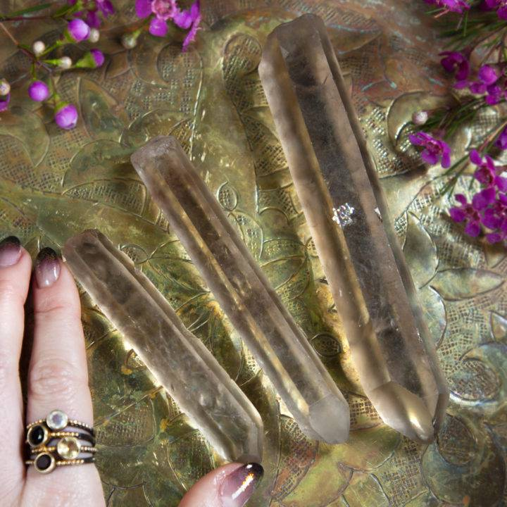 Lemurian Singing Smoky Quartz Point