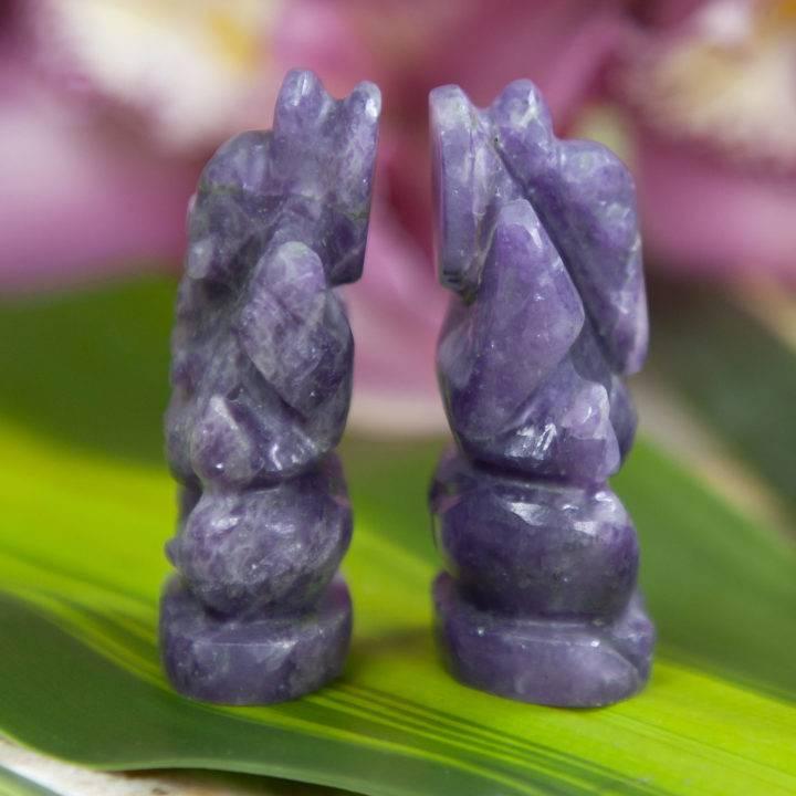 Lepidolite Ganesha