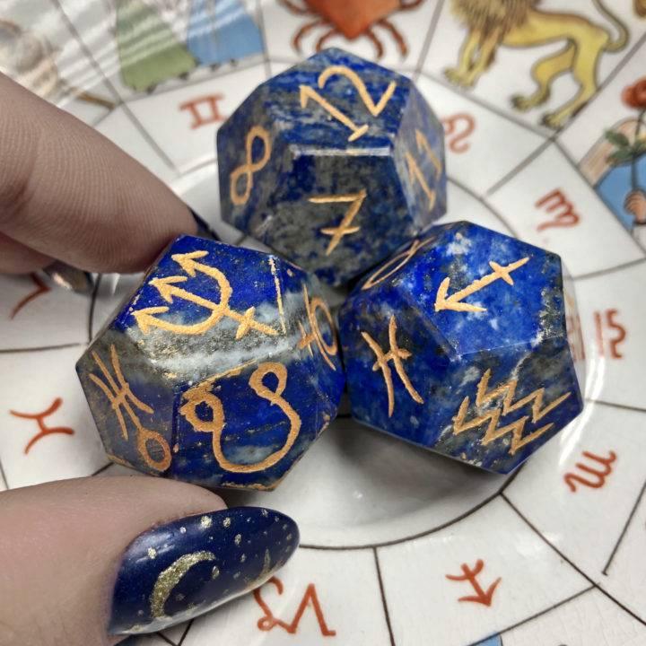 Lapis Lazuli Astrology Dice