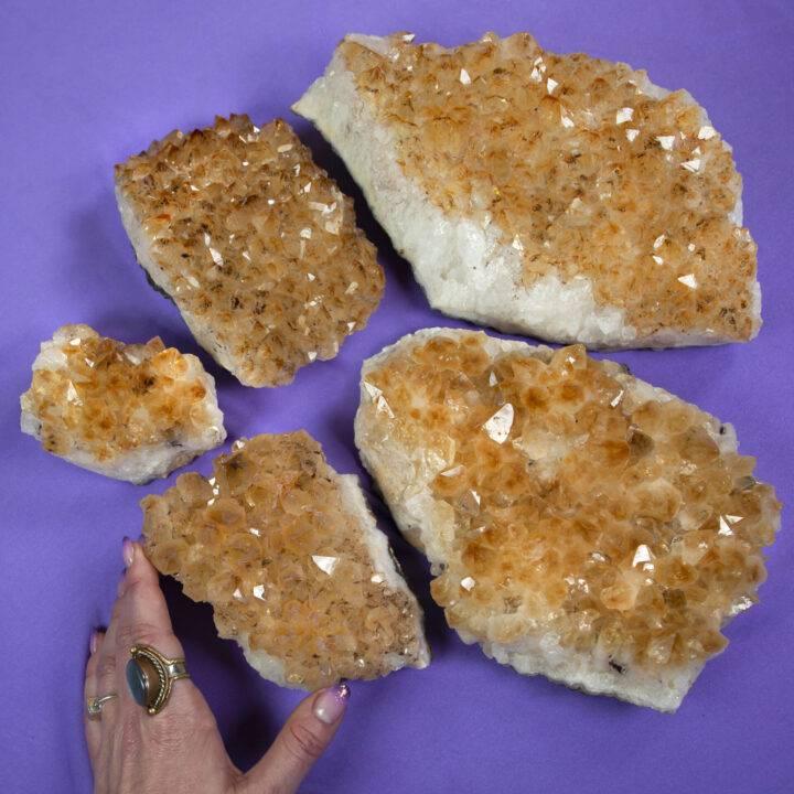Baked Citrine Quartz Cluster