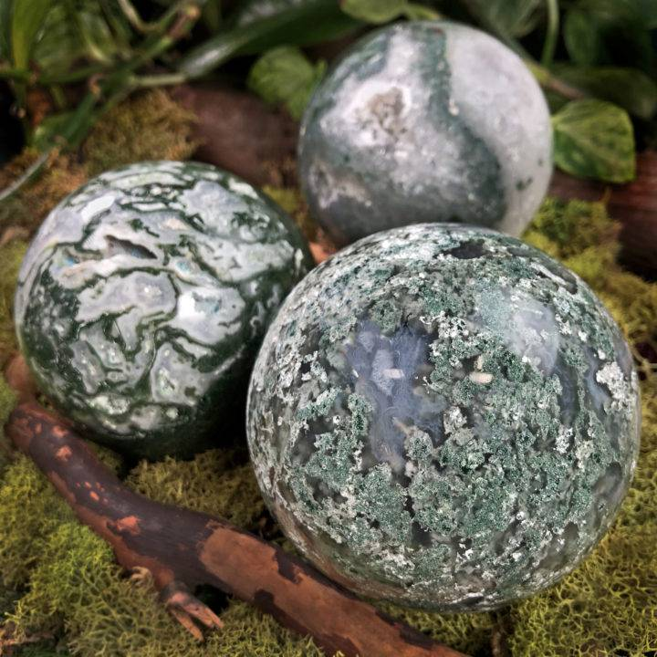Moss Agate Mother Earth Sphere