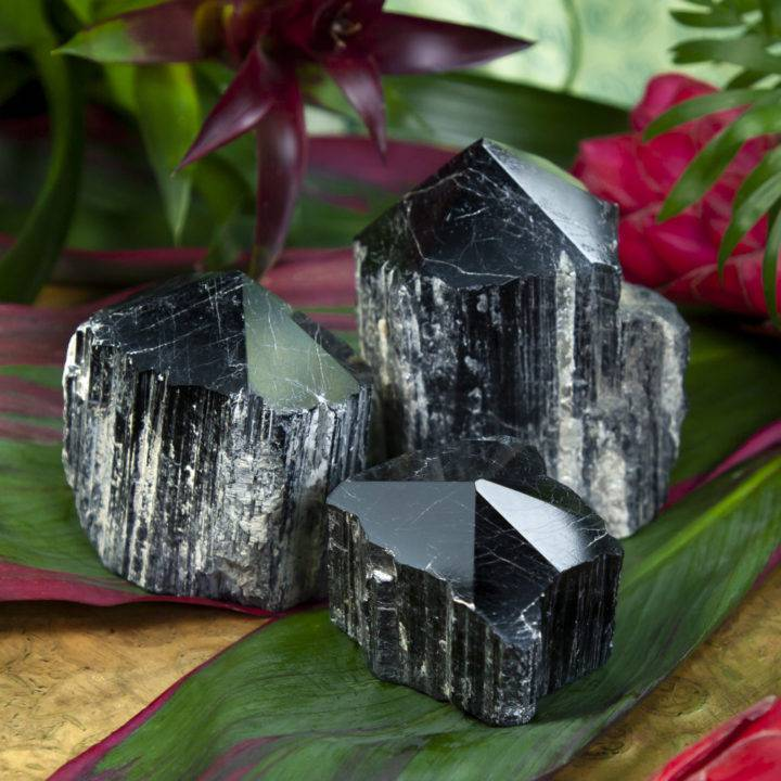 Natural Sided Black Tourmaline Protection Generator