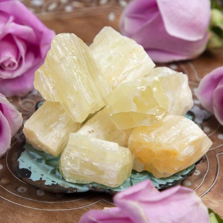 Natural Yellow Calcite
