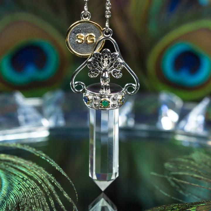 Priestess Peacock Pendulum