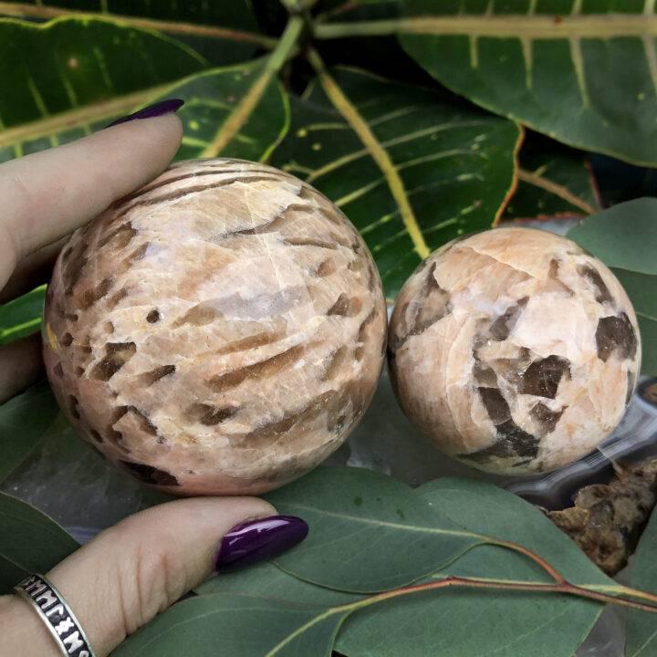 Peach Zebradorite Past Life Recall Sphere