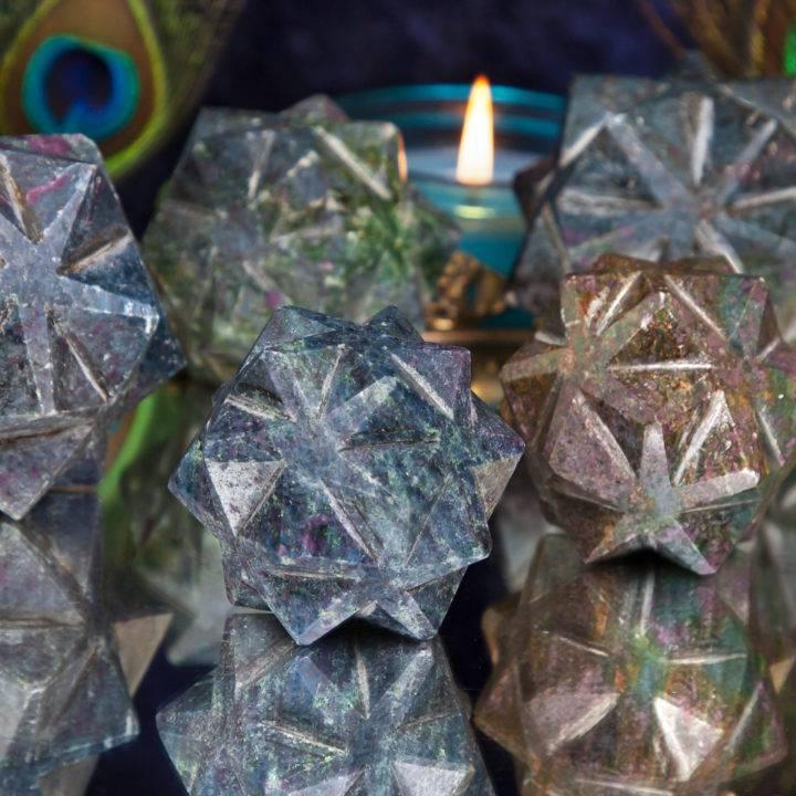 Ruby Kyafuchsite 3D Metatrons Cube