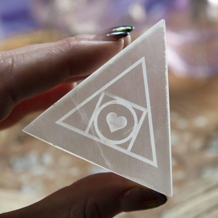Selenite Alchemy and Moon Magic Triangle