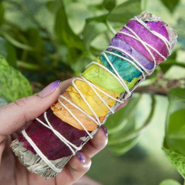 Small Rainbow Chakra Smudge Bundle