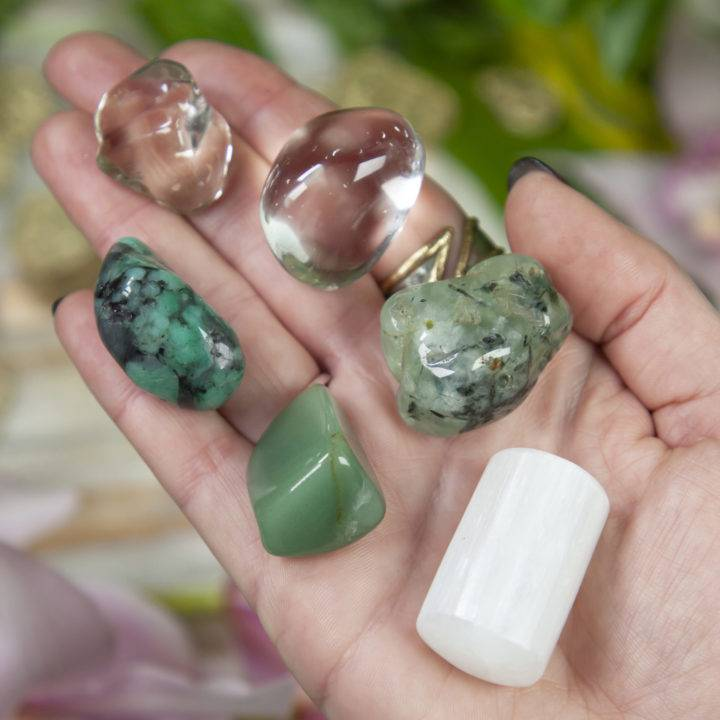 Wealth and Growth Crystal Healing Tray
