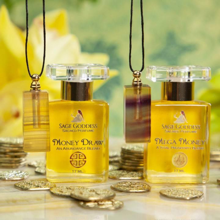 Yellow Fluorite Prosperity Perfume Bottle Pendant with Money Magic Perfume