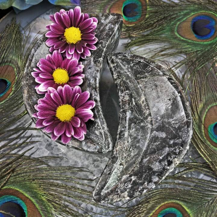 Arfvedsonite Crescent Moon Bowl