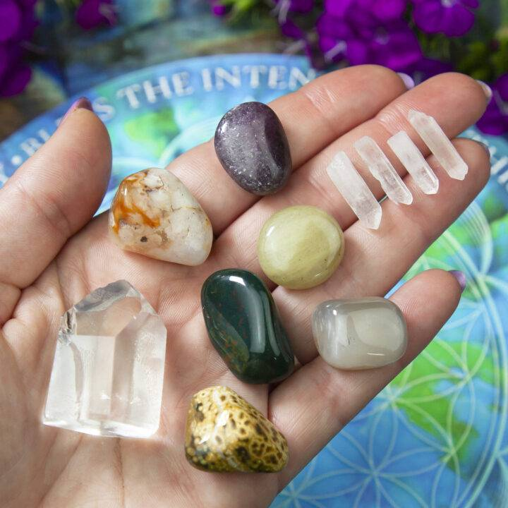 Blessed Intentions Gemstone Grid