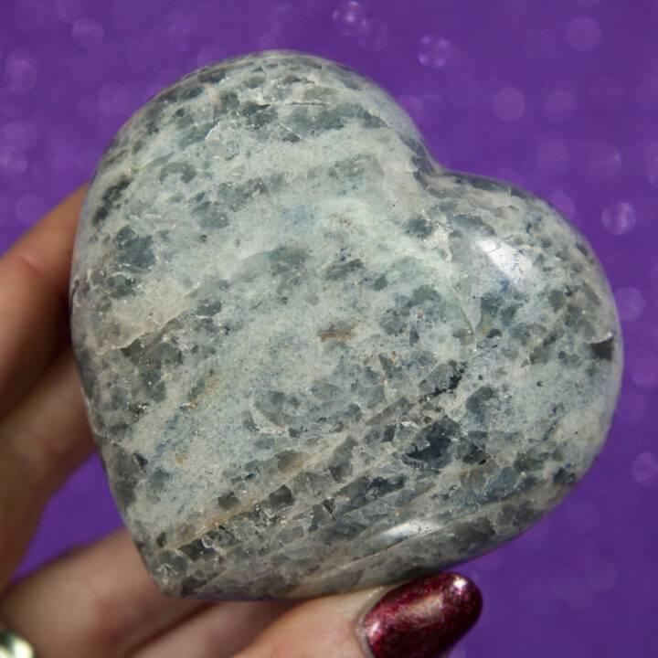 Blue Quartz Heart