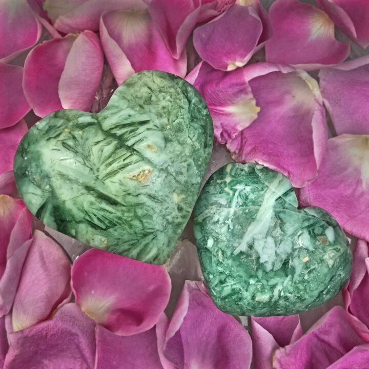 Brecciated Chrysoprase Healing Love Heart