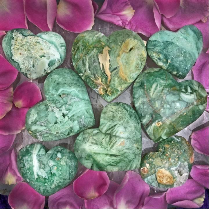 Brecciated Chrysoprase Healing Love Heart